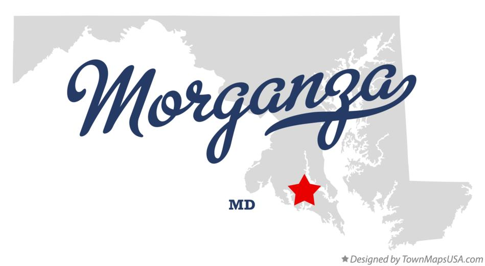 Map of Morganza Maryland MD