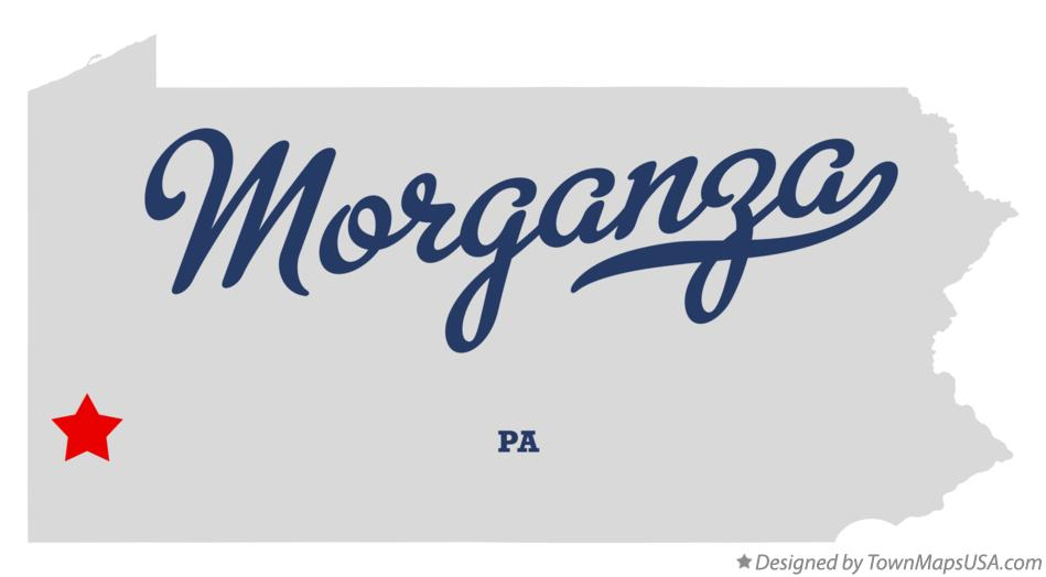Map of Morganza Pennsylvania PA