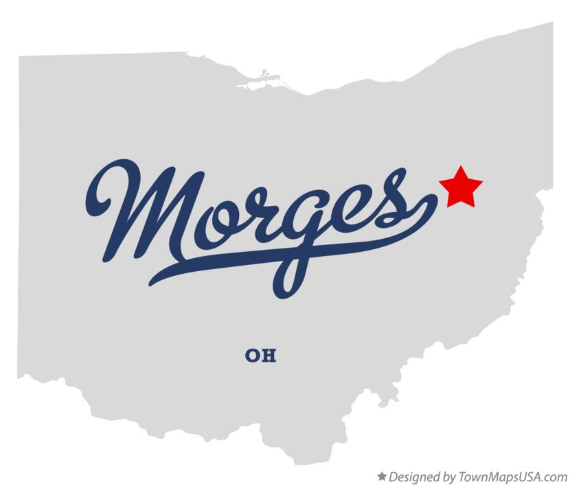 Map of Morges Ohio OH