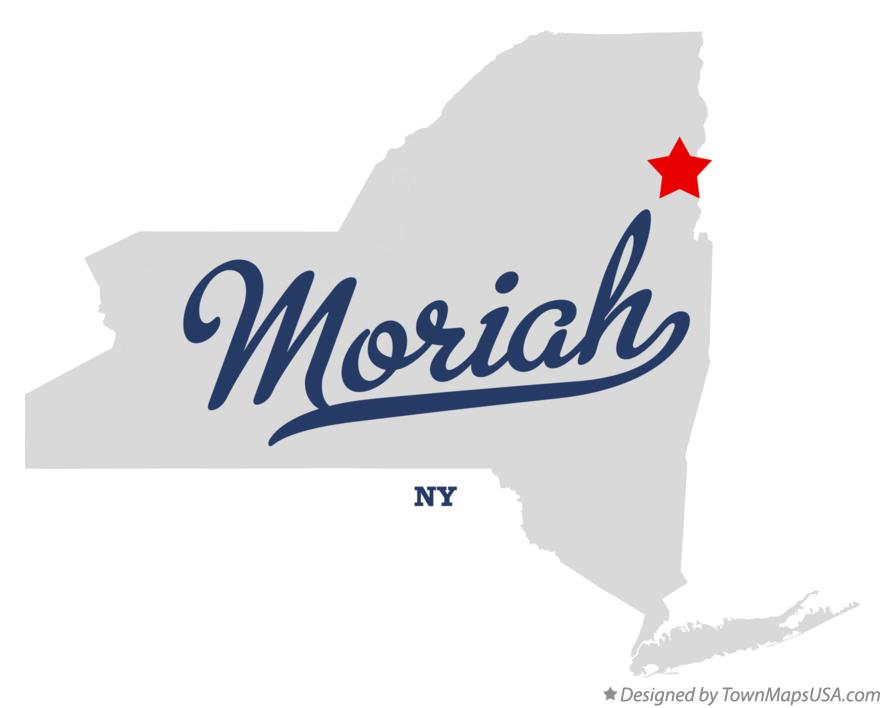 Map of Moriah New York NY