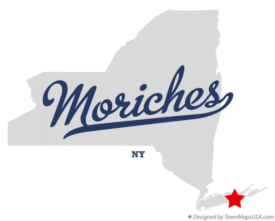 Map of Moriches New York NY