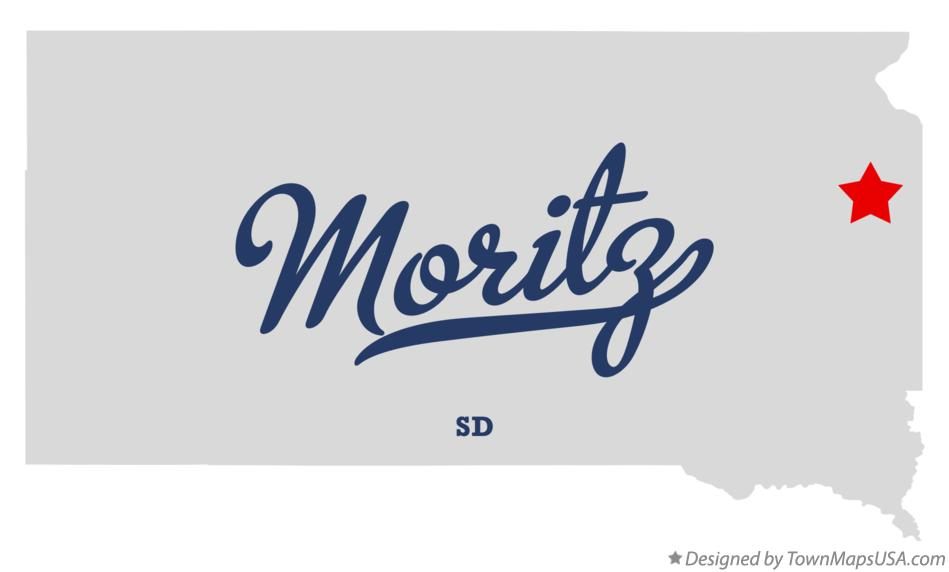 Map of Moritz South Dakota SD