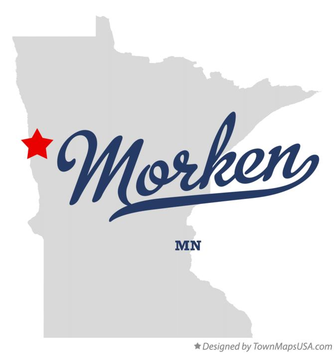 Map of Morken Minnesota MN