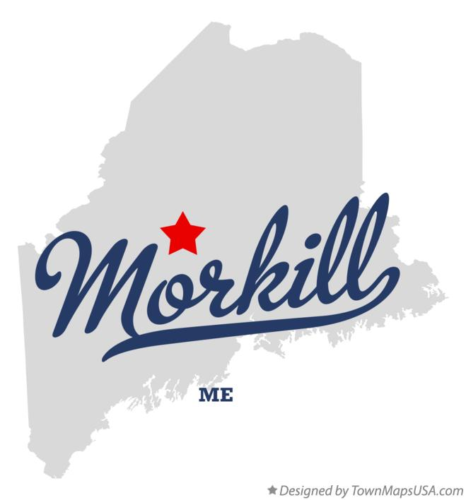 Map of Morkill Maine ME