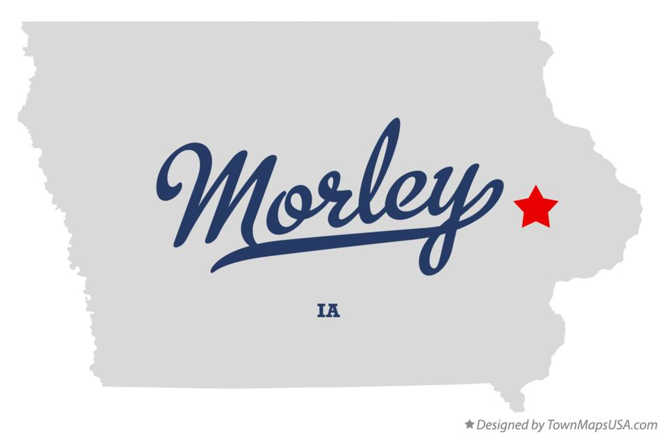 Map of Morley Iowa IA