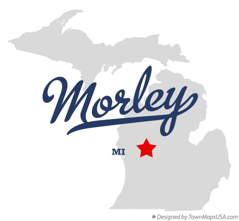 Map of Morley Michigan MI