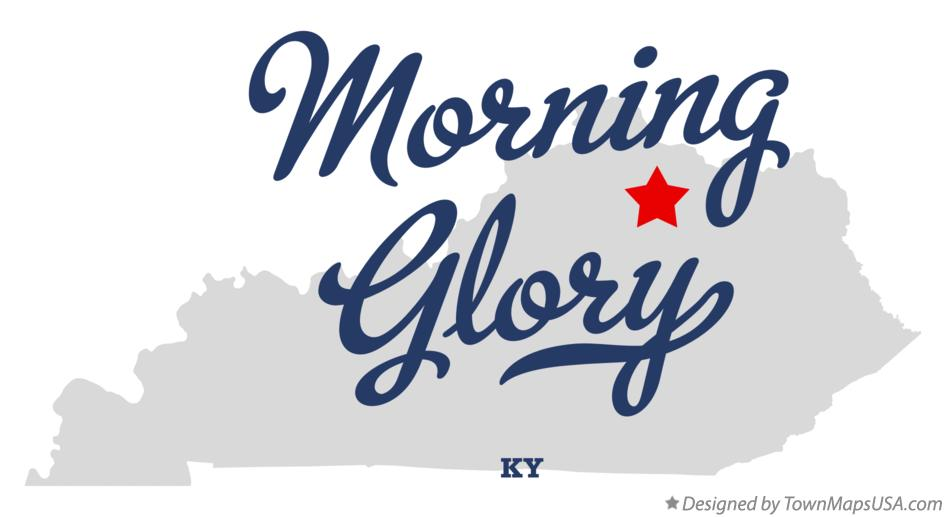 Map of Morning Glory Kentucky KY