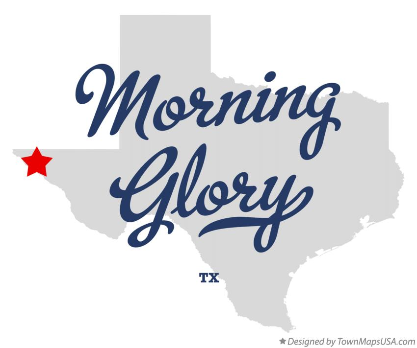Map of Morning Glory Texas TX