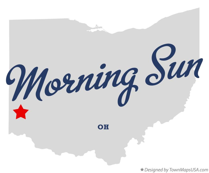 Map of Morning Sun Ohio OH