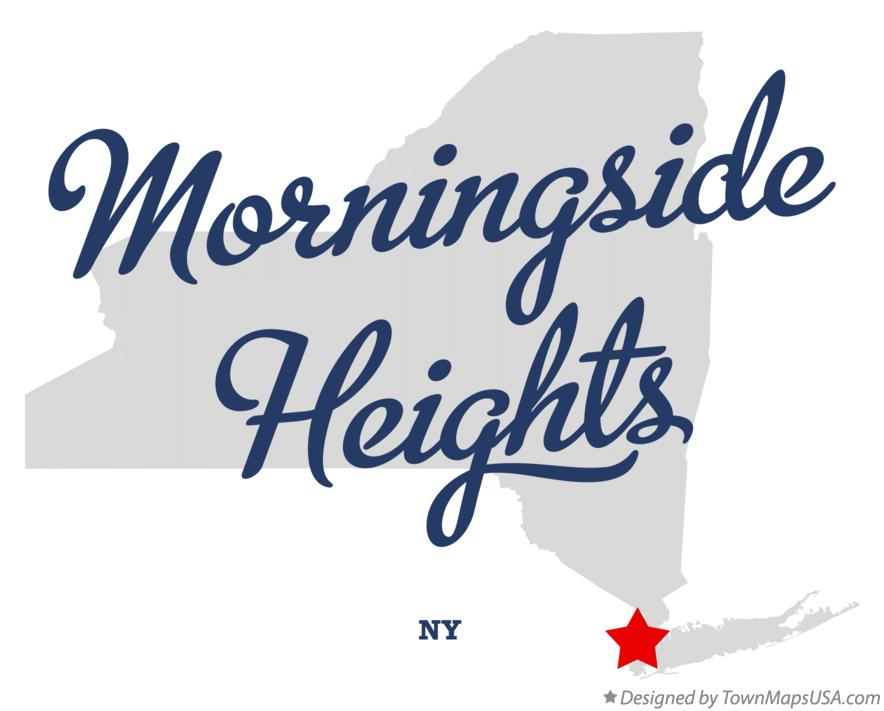 Map of Morningside Heights New York NY