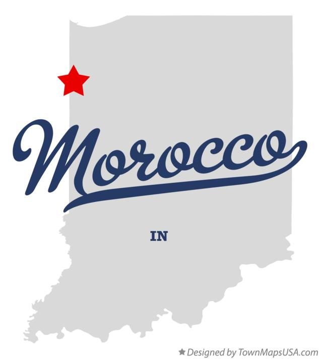 Map of Morocco Indiana IN