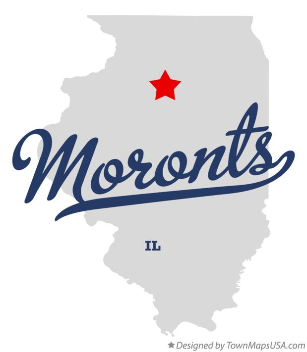 Map of Moronts Illinois IL