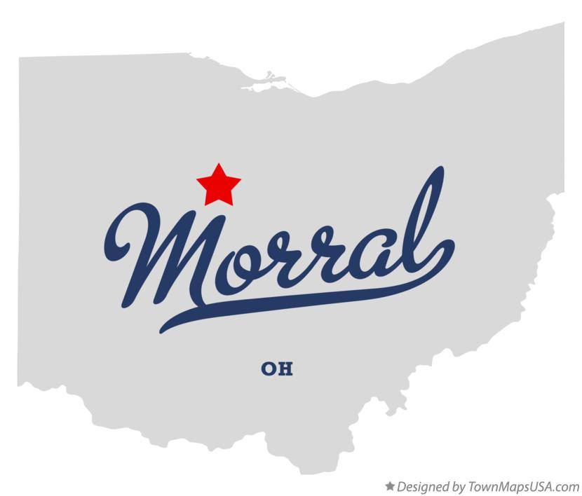Map of Morral Ohio OH