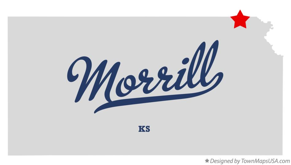 Map of Morrill Kansas KS