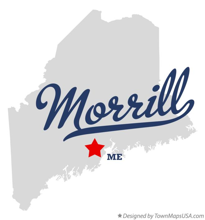 Map of Morrill Maine ME