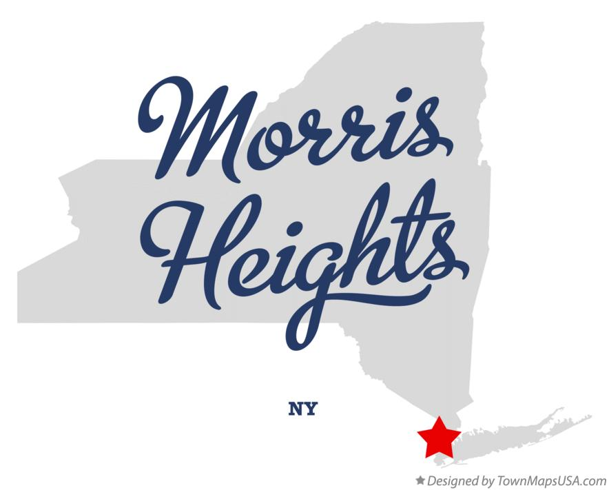 Map of Morris Heights New York NY