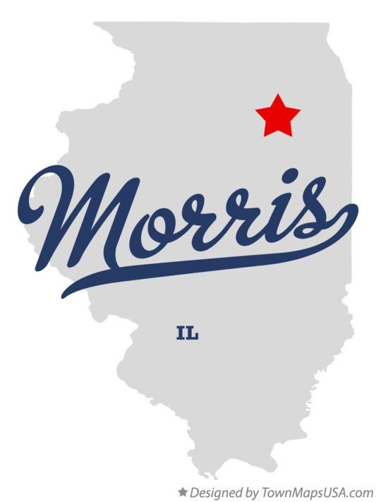 Map of Morris Illinois IL