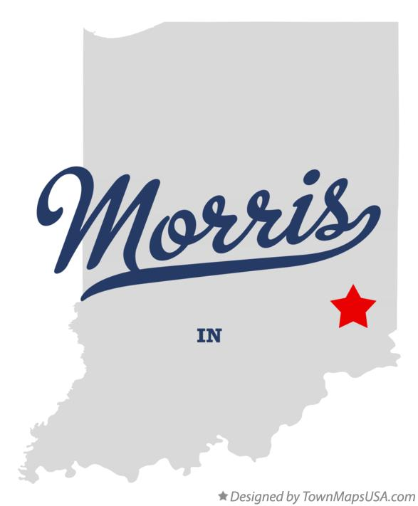 Map of Morris Indiana IN
