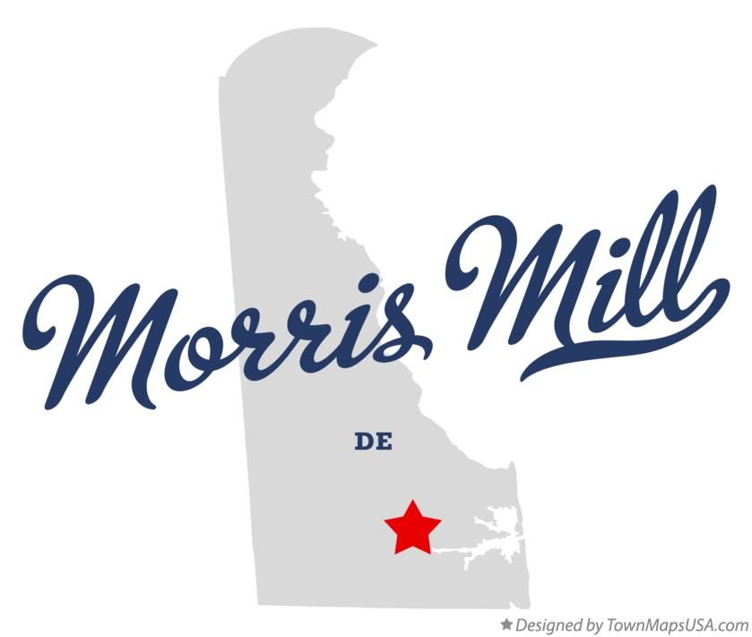 Map of Morris Mill Delaware DE