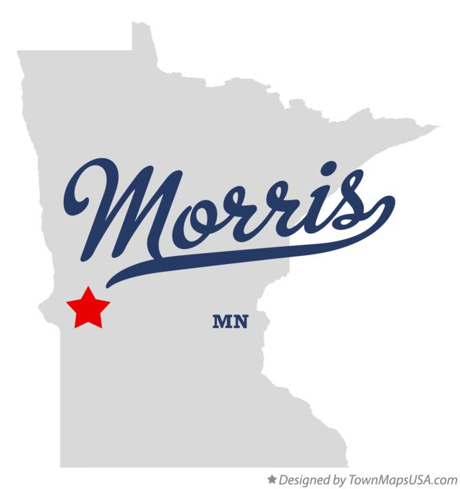 Map of Morris Minnesota MN