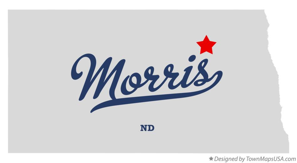 Map of Morris North Dakota ND