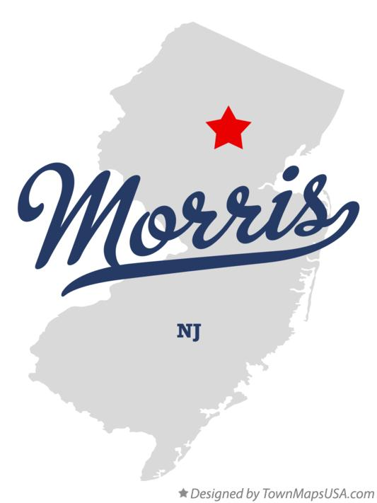Map of Morris New Jersey NJ