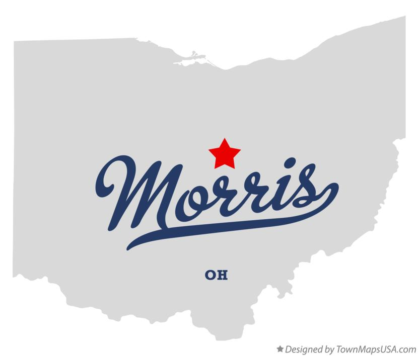 Map of Morris Ohio OH