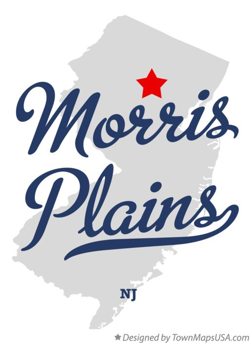 Map of Morris Plains New Jersey NJ