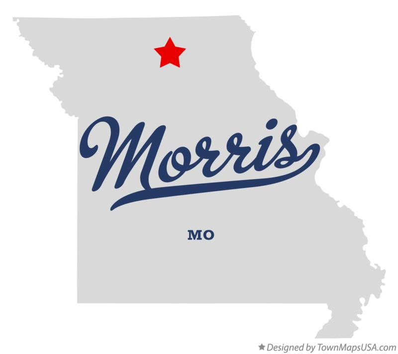 Map of Morris Missouri MO