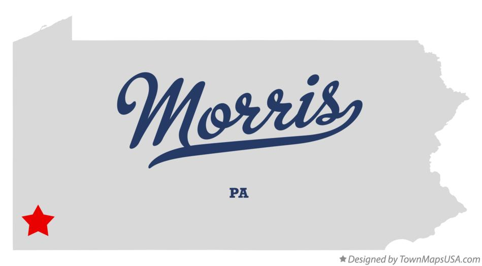 Map of Morris Pennsylvania PA