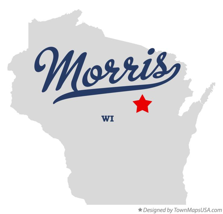 Map of Morris Wisconsin WI
