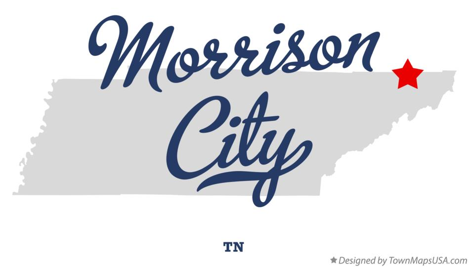Map of Morrison City Tennessee TN