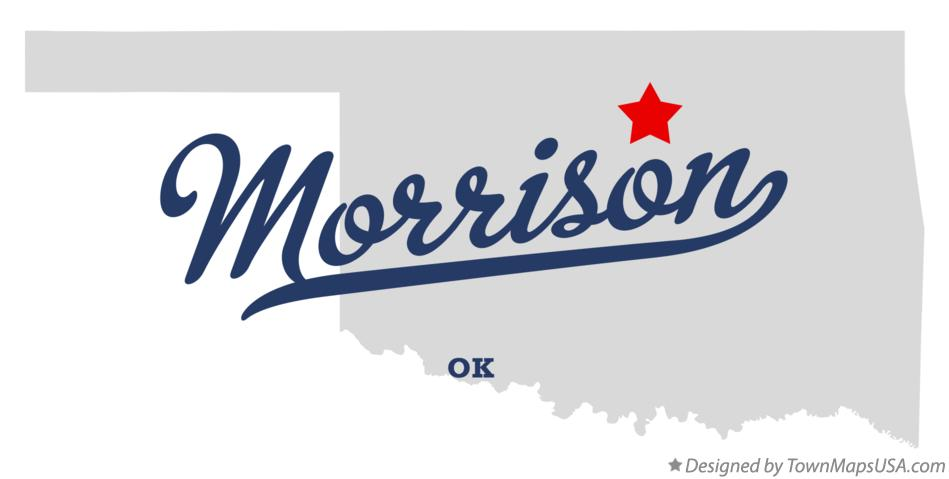 Map of Morrison Oklahoma OK