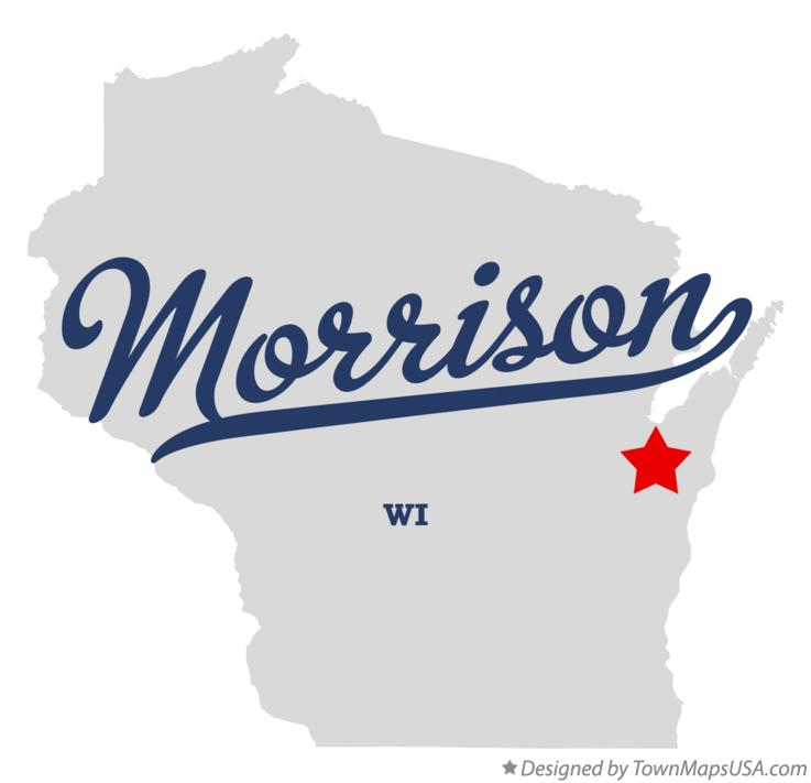 Map of Morrison Wisconsin WI