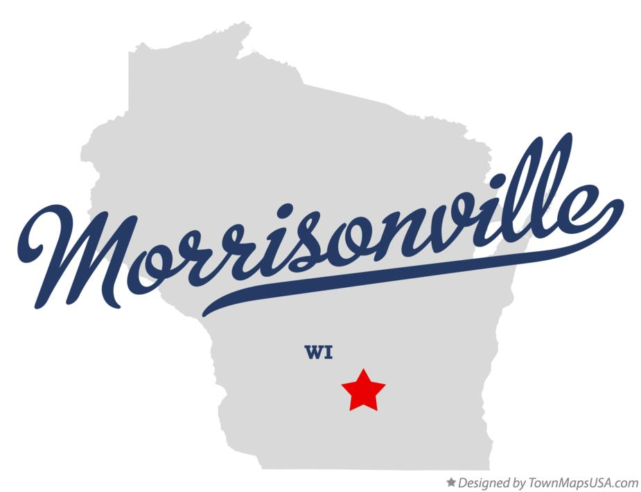 Map of Morrisonville Wisconsin WI