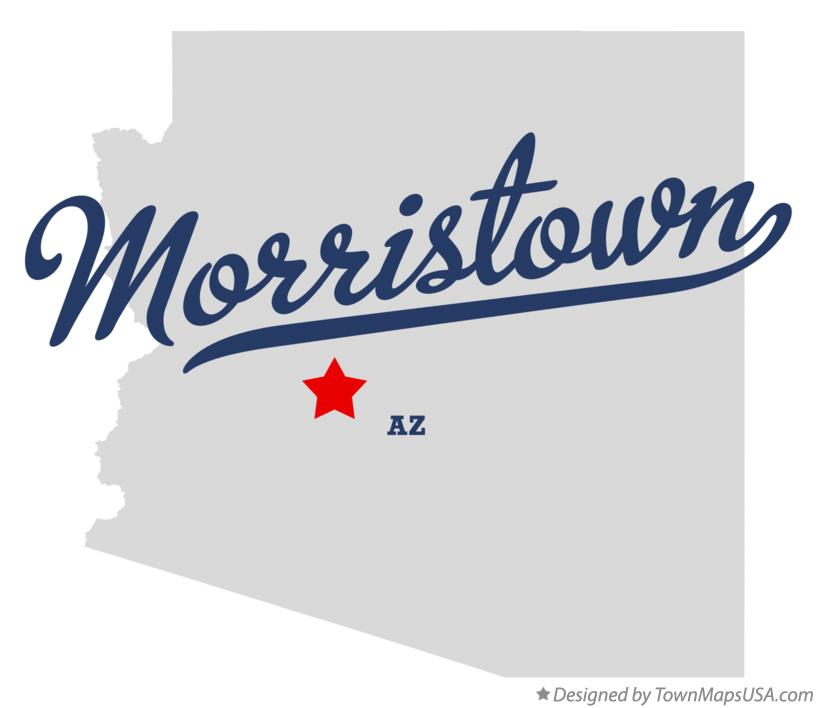 Map of Morristown Arizona AZ
