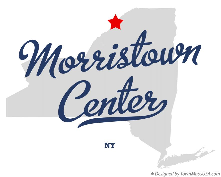 Map of Morristown Center New York NY