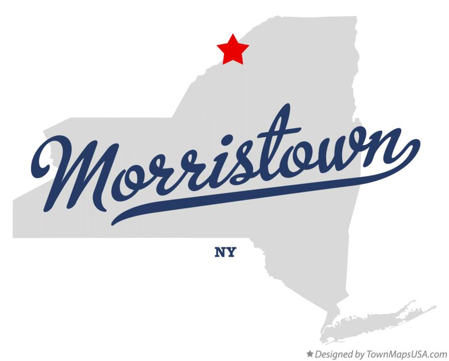 Map of Morristown New York NY