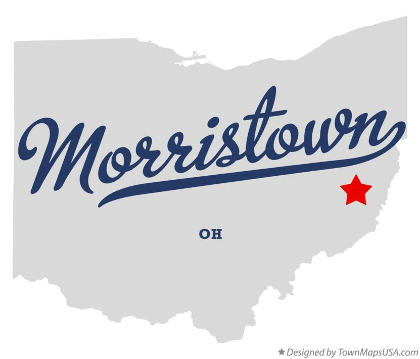Map of Morristown Ohio OH