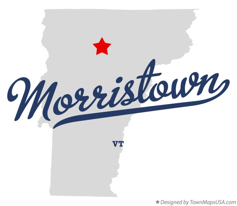 Map of Morristown Vermont VT