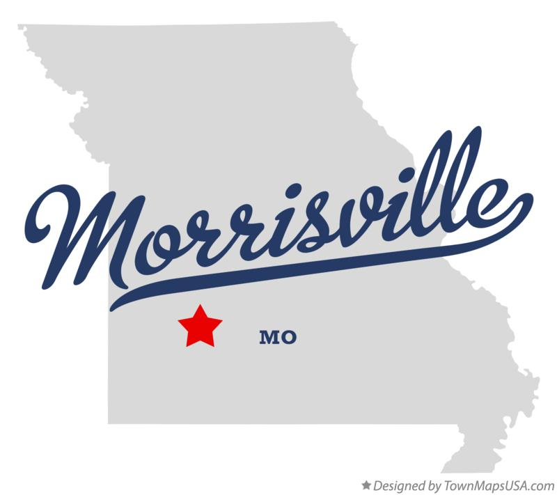 Map of Morrisville Missouri MO