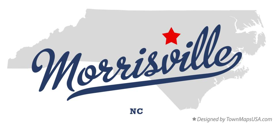 Map of Morrisville North Carolina NC