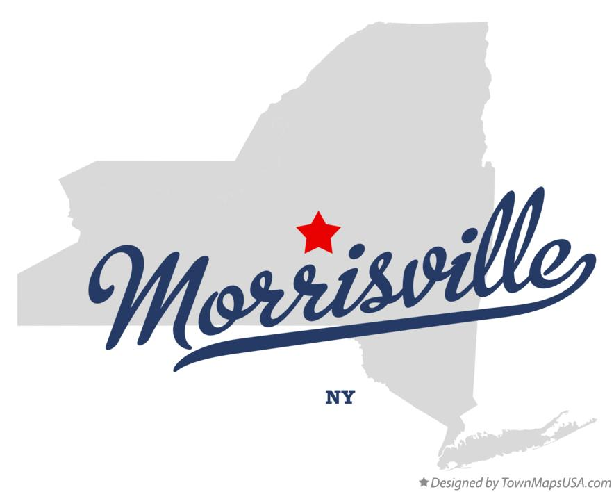 Map of Morrisville New York NY