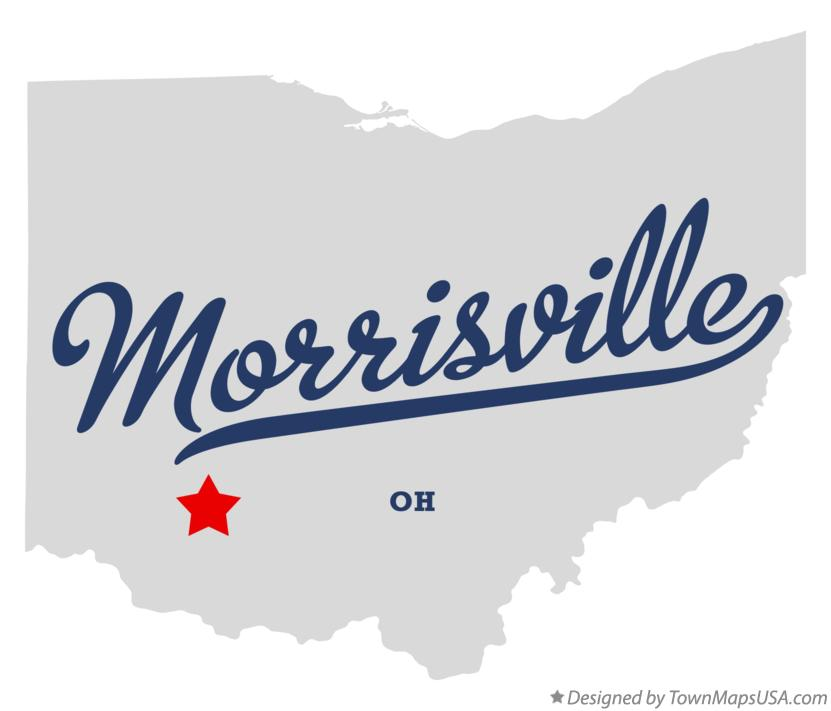 Map of Morrisville Ohio OH