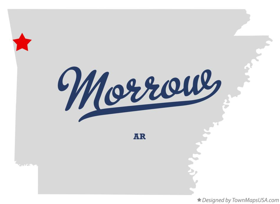 Map of Morrow Arkansas AR