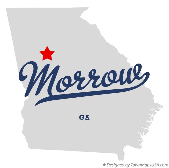 Map of Morrow Georgia GA