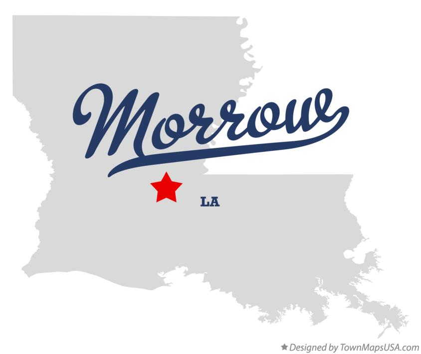 Map of Morrow Louisiana LA