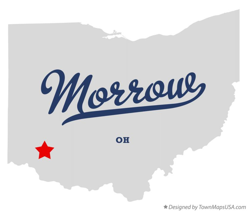 Map of Morrow Ohio OH