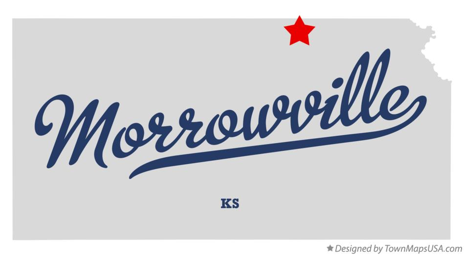 Map of Morrowville Kansas KS