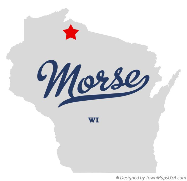 Map of Morse Wisconsin WI